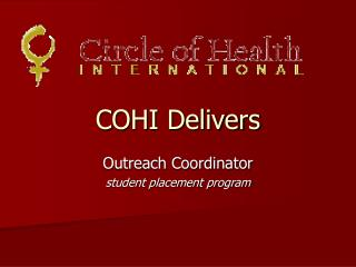 COHI Delivers
