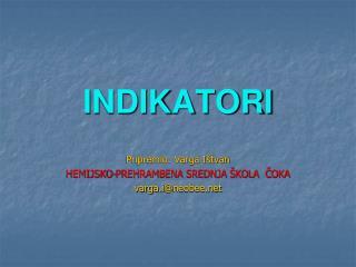 INDIKATORI