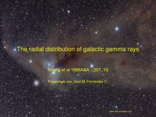 The radial distribution of galactic gamma rays