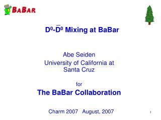 D 0 -D 0  Mixing at BaBar