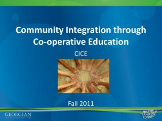 Community Integration through Co-operative Education