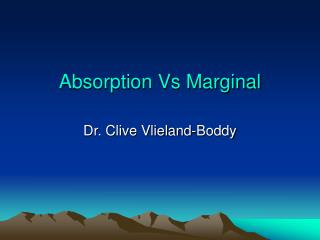 Absorption Vs Marginal