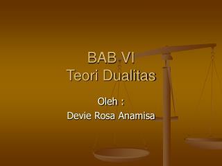 BAB VI Teori Dualitas