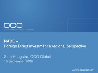 NABE – Foreign Direct Investment a regional perspective