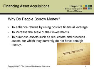 Why Do People Borrow Money?