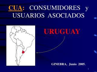 CUA :  CONSUMIDORES   y  USUARIOS  ASOCIADOS