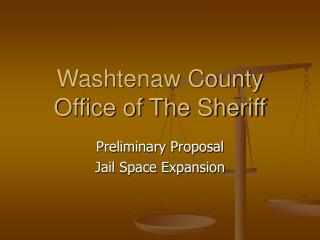 Washtenaw County Office of The Sheriff
