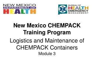 Logistics and Maintenance of CHEMPACK Containers