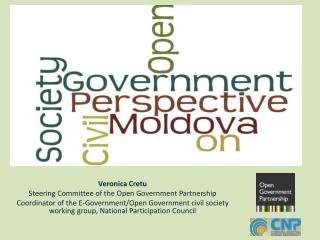 Veronica  Cretu Steering Committee of the Open Government Partnership