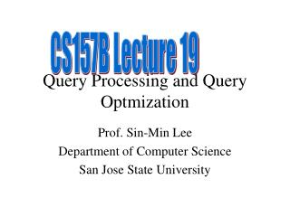Query Processing and Query Optmization