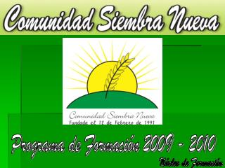 Programa de Formaci n 2009 - 2010