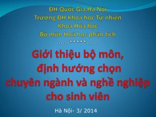 Hà Nội- 3/ 2014