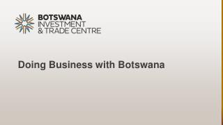 Doing Business with Botswana