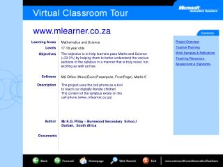 Learning Areas Levels Objectives Software Description Author
