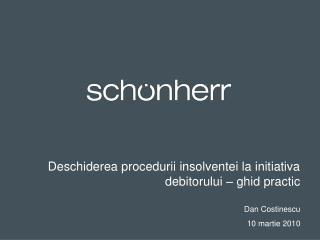 Deschiderea procedurii insolventei la initiativa debitorului –  ghid practic   Dan Costinescu