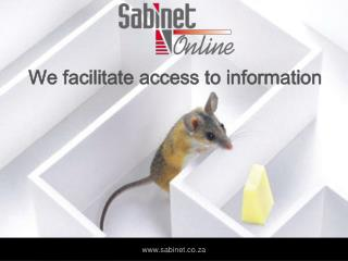 We facilitate access to information