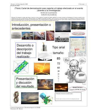 Introducción, presentación o antecedentes