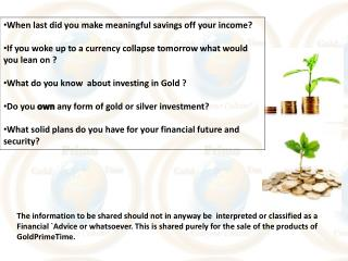 When last did you make meaningful savings off your income?