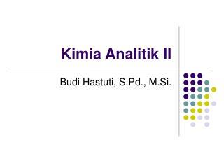 Kimia Analitik II