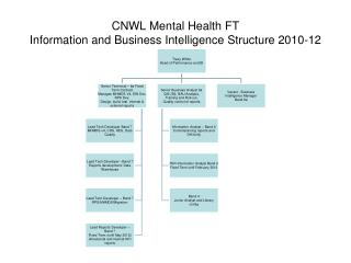 CNWL Mental Health FT Information and Business Intelligence Structure 2010-12