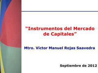 """""""Instrumentos del Mercado de Capitales"""""""