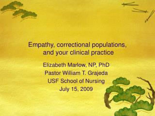 Empathy, correctional populations,  and your clinical practice