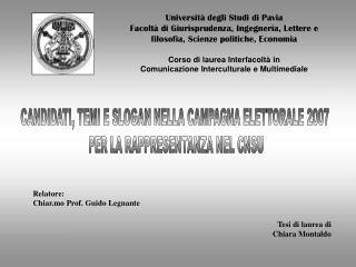 Universit� degli Studi di Pavia