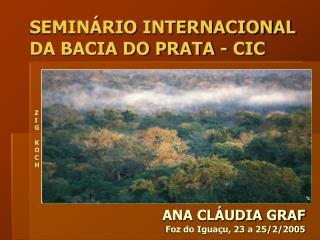 SEMINÁRIO INTERNACIONAL DA BACIA DO PRATA - CIC