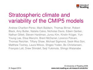 Stratospheric climate and variability of the CMIP5 models