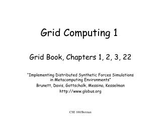 Grid Computing 1