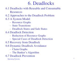 6. Deadlocks