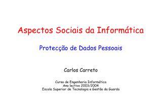 Aspectos Sociais da Informática