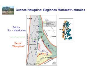 Cuenca Neuquina: Regiones Morfoestructurales