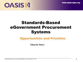 Standards-Based eGovernment Procurement Systems