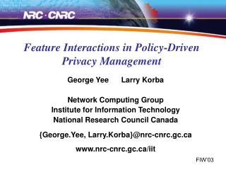 Feature Interactions in Policy-Driven Privacy Management