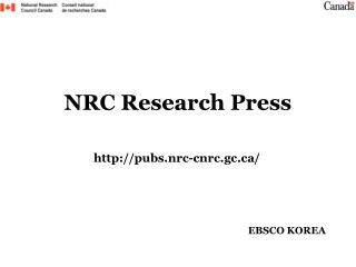NRC Research Press