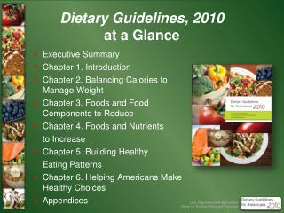 Dietary Guidelines, 2010 at a Glance
