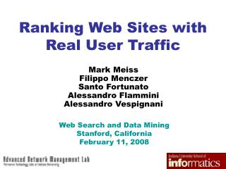 Ranking Web Sites with Real User Traffic
