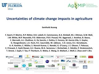 Uncertainties of climate change impacts in agriculture