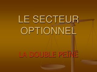 LE SECTEUR OPTIONNEL