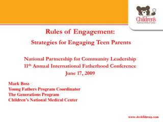 Rules of Engagement: Strategies for Engaging Teen Parents