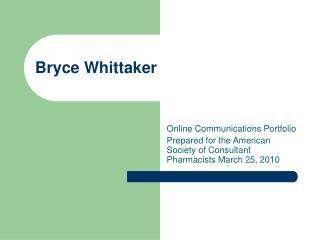 Bryce Whittaker