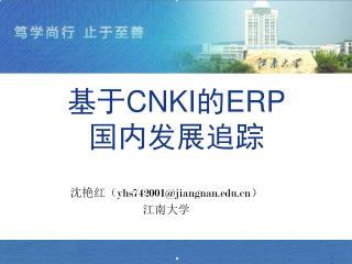 基于 CNKI 的 ERP 国内发展追踪
