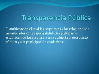 Transparencia Pública