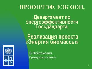 В.Войтехович Руководитель проекта