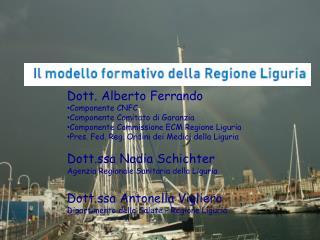 Dott. Alberto Ferrando Componente CNFC Componente Comitato di Garanzia