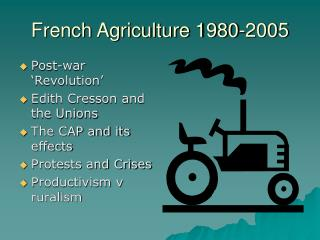 French Agriculture 1980-2005