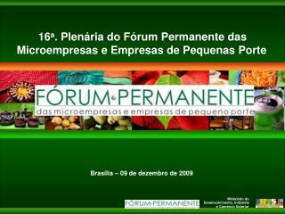 Fórum Permanente das Microempresas e Empresas de Pequeno Porte