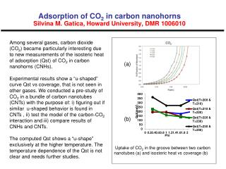 Adsorption of CO 2  in carbon nanohorns Silvina M. Gatica, Howard University, DMR 1006010