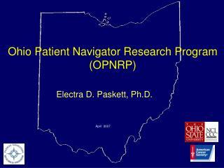 Ohio Patient Navigator Research Program  (OPNRP)
